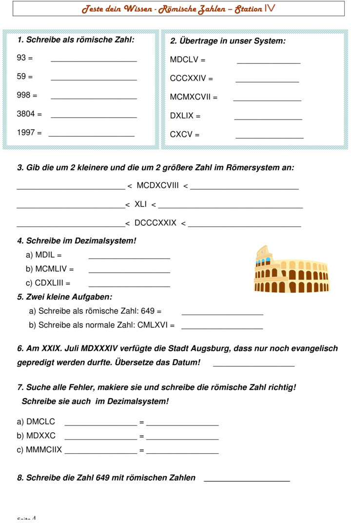 U00dcbungsblatt Zu Zahlensysteme