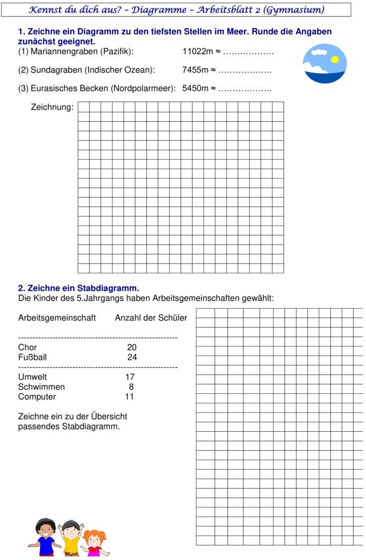 arbeitsblatt vorschule 187 aufgaben diagramme 5 klasse