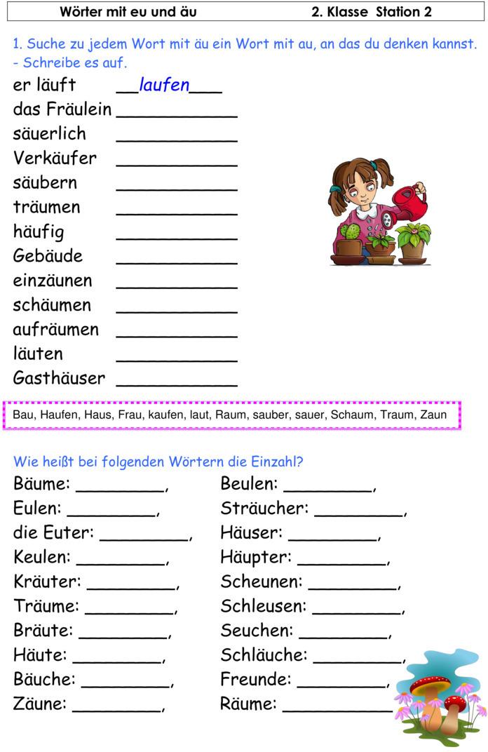 Rechtschreibung üben 2. Klasse