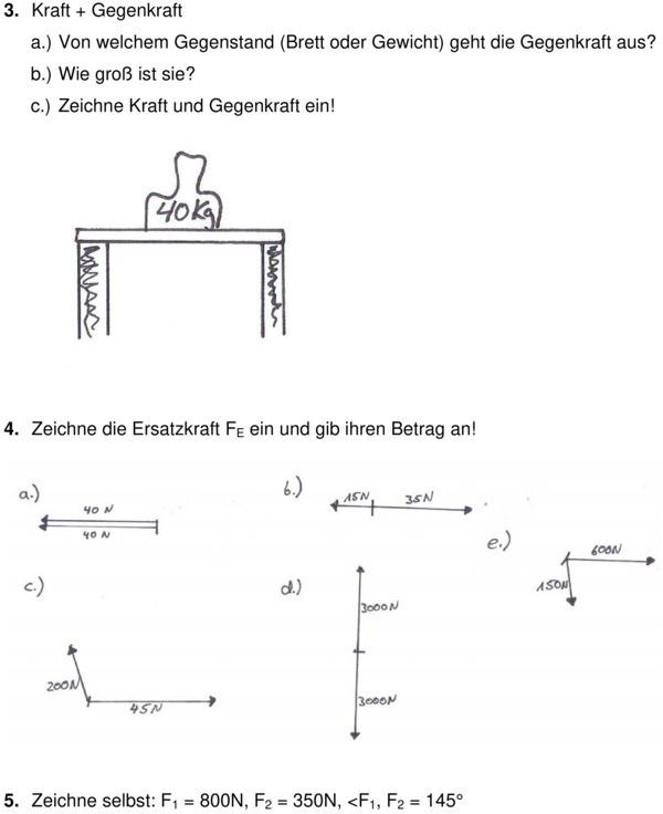 klassenarbeit zu kraft physik 8 klasse. Black Bedroom Furniture Sets. Home Design Ideas