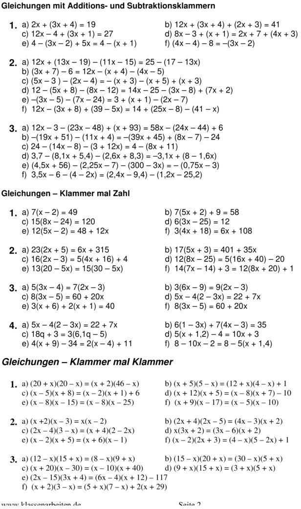 220bungsblatt zu terme und gleichungen 8 klasse