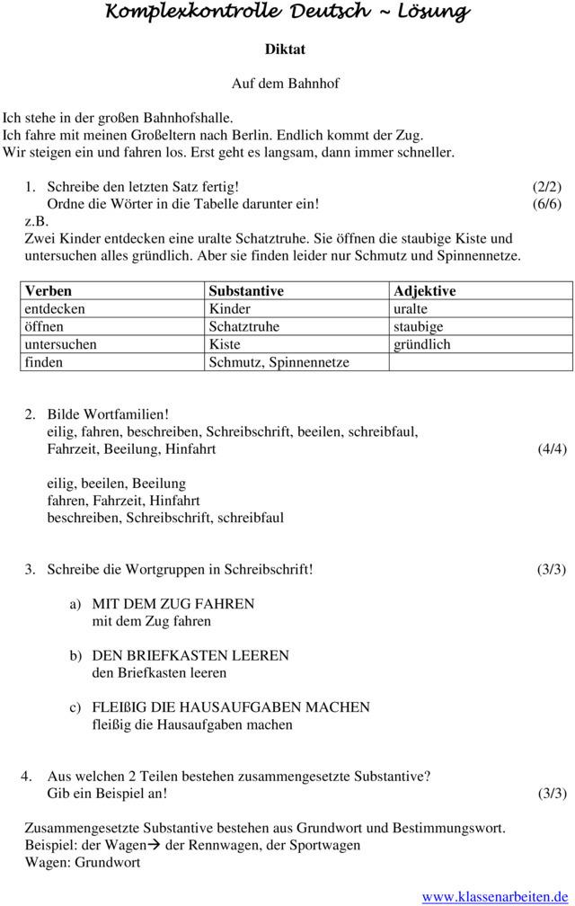 wortstamm und wortfamilien grundschule klasse 3 deutsch