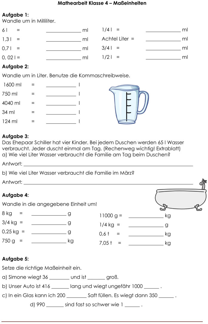 Mathe Textaufgaben 3 Klasse