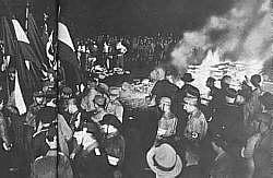 Bücherverbrennung im 3. Reich
